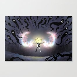 Light against the ghosts Canvas Print