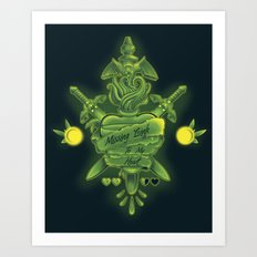 Missing Link To My Heart Art Print
