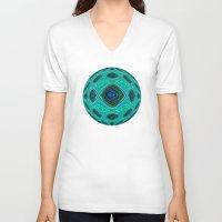 aqua V-neck T-shirts featuring Aqua by gretzky