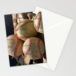 Baseballs and Glove Stationery Cards