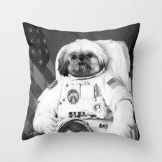 Shitzu Astronaut Throw Pillow