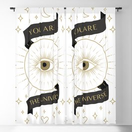 you are the universe inspirational gold quote Blackout Curtain