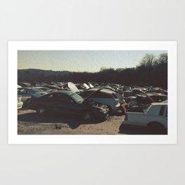 Transit Photo Series: Salvage Yard Art Print