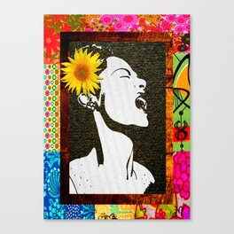 Lady Day in floral Canvas Print