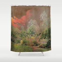 English Garden Sunset Shower Curtain