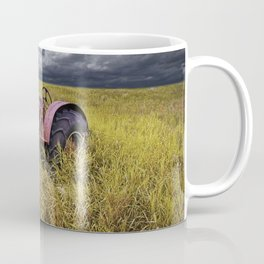 Abandoned Farm Tractor on the Prairie Coffee Mug