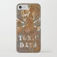 data iPhone & iPod Cases featuring Toxic Data by Hans Duenas