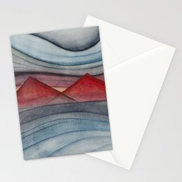 Geometric landscapes 06 Stationery Cards