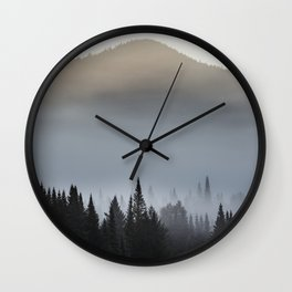 Sunrise over the montains Wall Clock