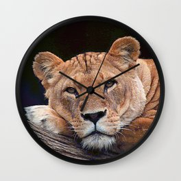 AnimalPaint_Lion_20171201_by_JAMColorsSpecial Wall Clock