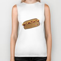 hot dog Biker Tanks featuring Hot Dog by Tuesday Alissia