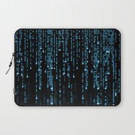 Matrix Binary Blue Code Laptop Sleeve