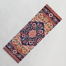 Kashan Central Persian Rug Print Yoga Mat