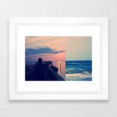 Tide Pier Framed Art Print