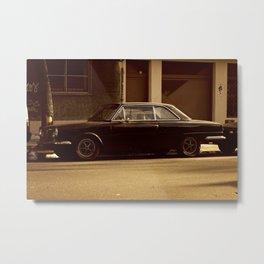 The Black Car Metal Print