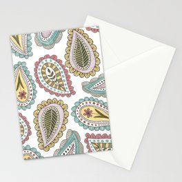 paisley pattern in pale colors Stationery Cards
