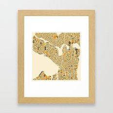 SEATTLE Map Framed Art Print