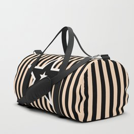 The Greatest Star! Black and Cream Duffle Bag