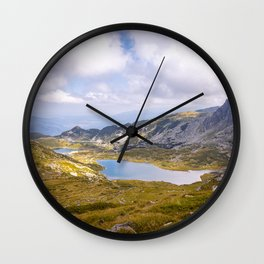 Above the lakes Wall Clock