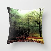 cycle Throw Pillows featuring cycle by Nev3r