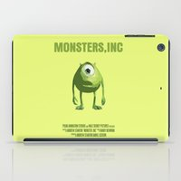 monster inc iPad Cases featuring Monsters, Inc by FunnyFaceArt
