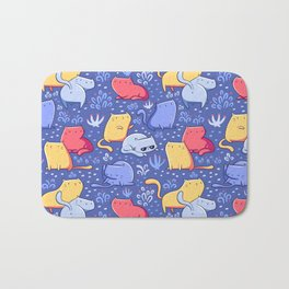 A Lot of Cats / Out at night Bath Mat