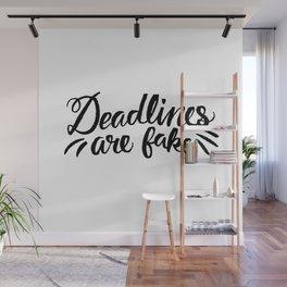 Deadlines Wall Mural