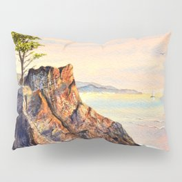 Pebble Beach Lone Cypress Tree Pillow Sham