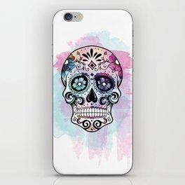 Watercolor Sugar Skull iPhone Skin