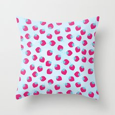Strawberry spring Throw Pillow