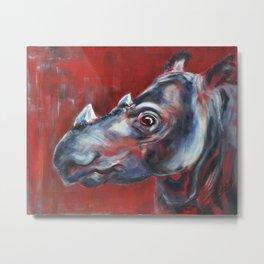 Sumatran Rhino Metal Print