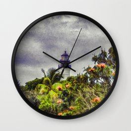 Key West Lighthouse - Digital Photo Painting Wall Clock