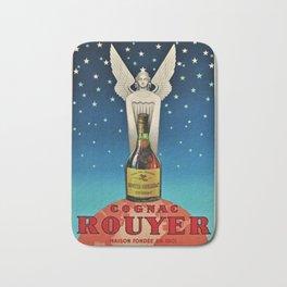 Vintage 1945 Cognac Rouyer Advertisement Poster Bath Mat