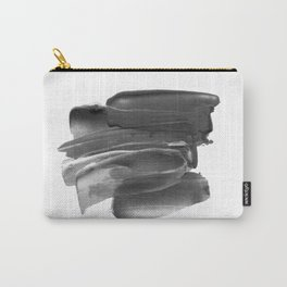 Lipstick Smudge black and white abstract painting poster design home wall art bedroom decor Carry-All Pouch