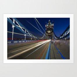 Tower Bridge, London  at night Art Print