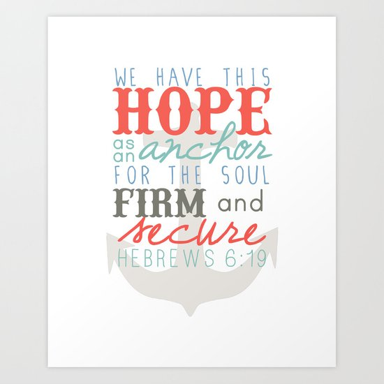 Hope as an Anchor Art Print