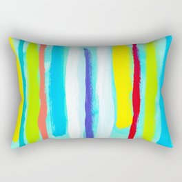 Ocean Blue Summer blue abstract painting stripes pattern beach tropical holiday california hawaii Rectangular Pillow