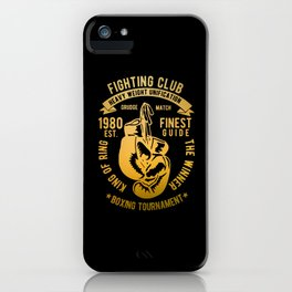 fighting club heavy weight unification iPhone Case