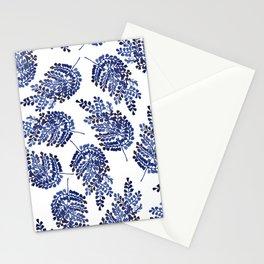 Cobalt Fern Stationery Cards