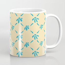Floral Geometric Pattern Hawaiian Ocean and Sand Coffee Mug