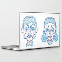 rare Laptop & iPad Skins featuring A Rare Girl by Ukko
