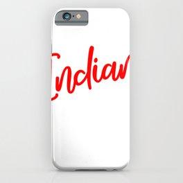 Indian Football Indians Football Indian Headress iPhone Case