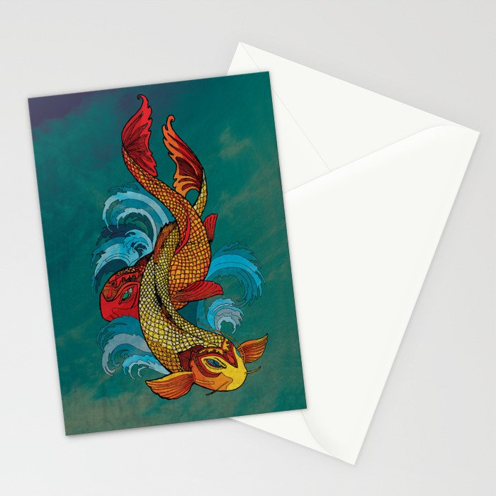 A tale of two fins. Stationery Cards
