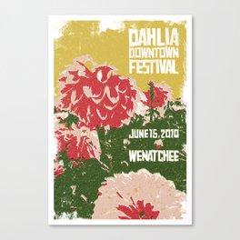 Dahlia fest Canvas Print