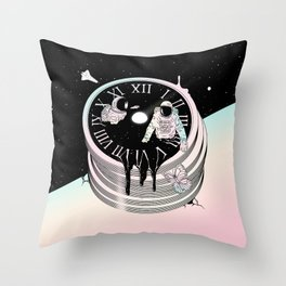 Immersed in Time Throw Pillow