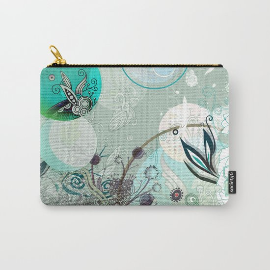 Floral collage Carry-All Pouch