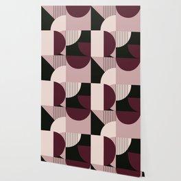 Modern Memphis 2 (cherry cream pallette) Wallpaper