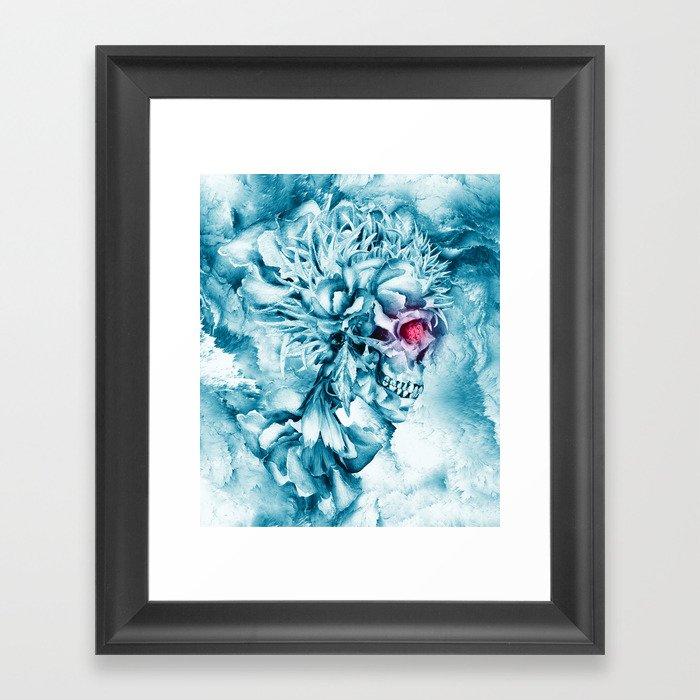 Frozen Skull Gerahmter Kunstdruck