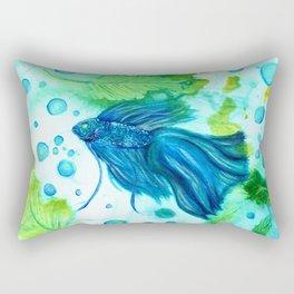 Shimmering Sea Betta Rectangular Pillow