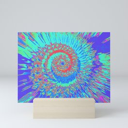 Pop Art Nautilus Fractal Mini Art Print